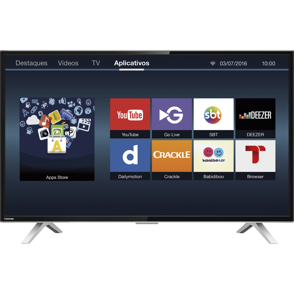smart tv led 40 semp toshiba full hd wi fi hdmi e usb 40l2600 novo mundo. Black Bedroom Furniture Sets. Home Design Ideas