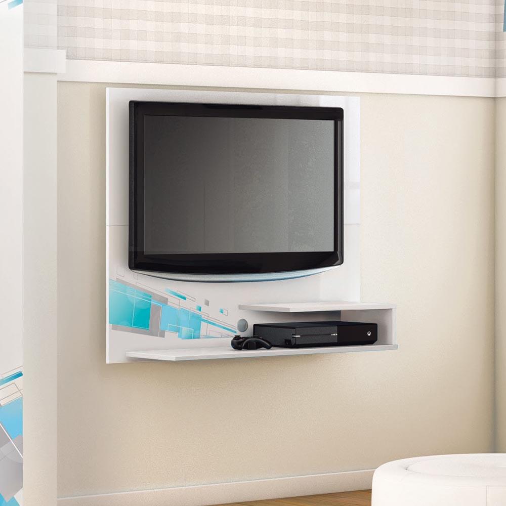 Painel Tv Para Quarto Infantil Smart At 32 Polegadas Branco E  ~ Painel Tv Quarto Bebe Com Altura Da Tv No Quarto