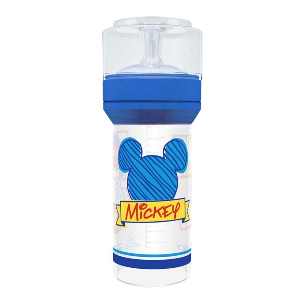 Mamadeira Super Silicone Disney Mickey Azul 260ml - Lillo - Novo ... cdc4cb83058