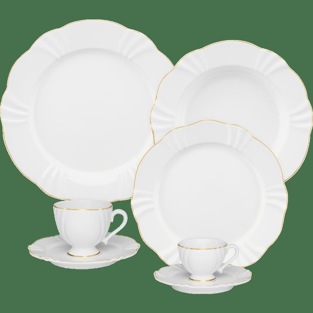 Aparelho De Jantar Chá E Café Oxford Soleil Victoria 42 Peças Em