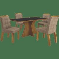 mesa-de-jantar-creta-com-vidro-preto-temperado-4-cadeiras-leifer-moveis-imbuia-mel-animale-cappucino-50236-0