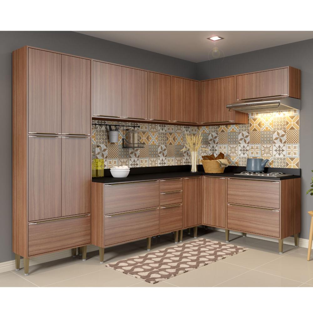 Cozinha Compacta Cal Bria Com A Reos Paneleiro E Balc O Nogueira