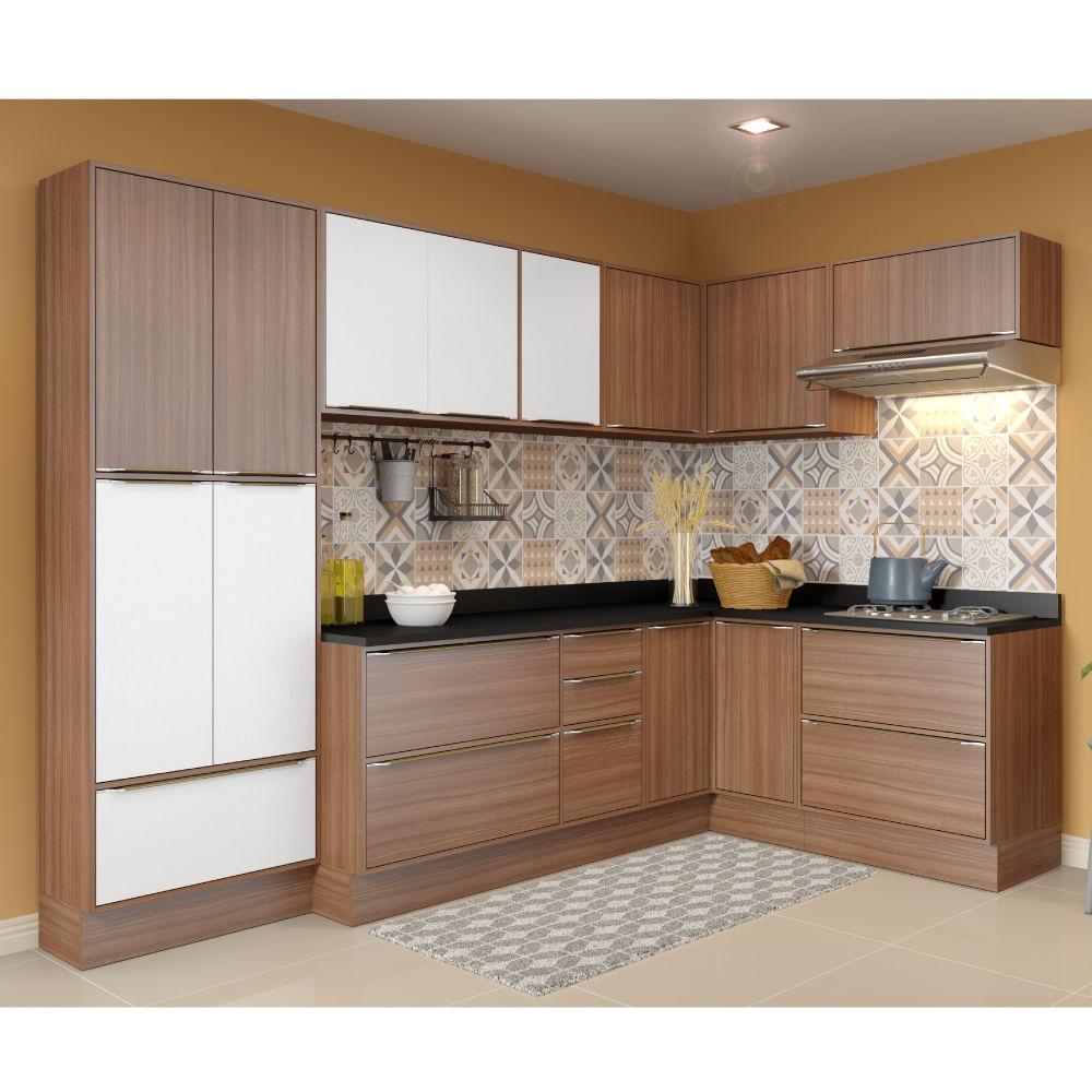 Cozinha Compacta Cal Bria Com Rodap A Reos Paneleiro E Balc O