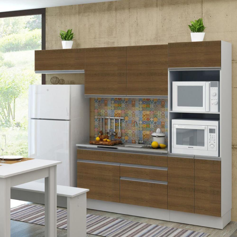 Cozinha Compacta Bruna A Reos Arm Rio Para Forno E Balc O Branco