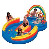 piscinaplaygroundarcoiris227litrosintex