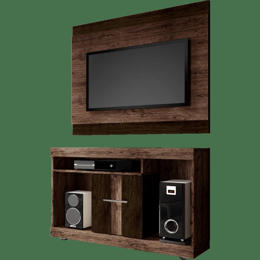 Rack Com Painel Para Tv E Home Theater E Puff Novo Mundo ~ Painel Para Tv Moderno Quarto E Quarto Bebe Cinza E Verde
