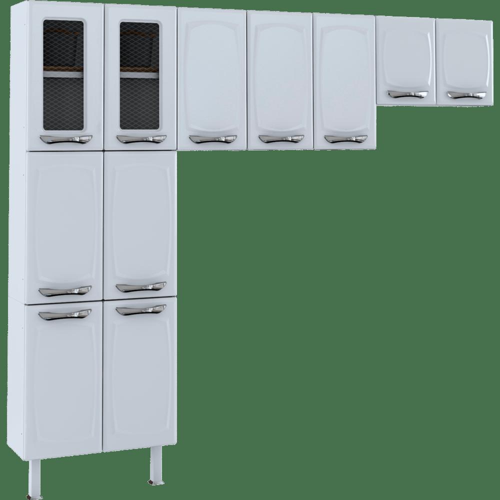 Cozinha De A O Colormaq Leblon 11 Portas 3 Pe As Em A O E Vidro