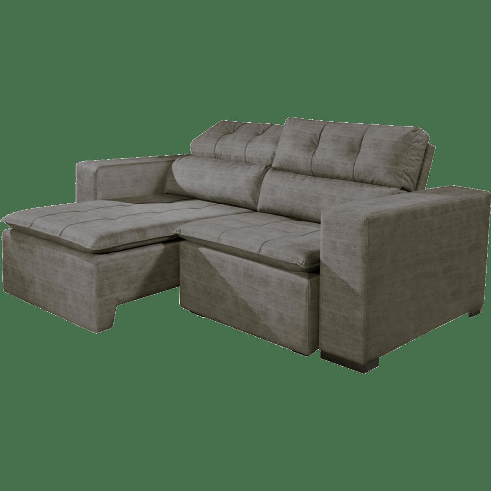 Sofá 3 Lugares Master Classic Com Tecido Suede Animale: Sofa Reclinavel Dois Lugares