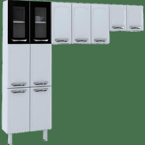 cozinha-de-aco-colormaq-leblon-3-pecas-11-portas-em-aco-e-vidro-preto-50167-0