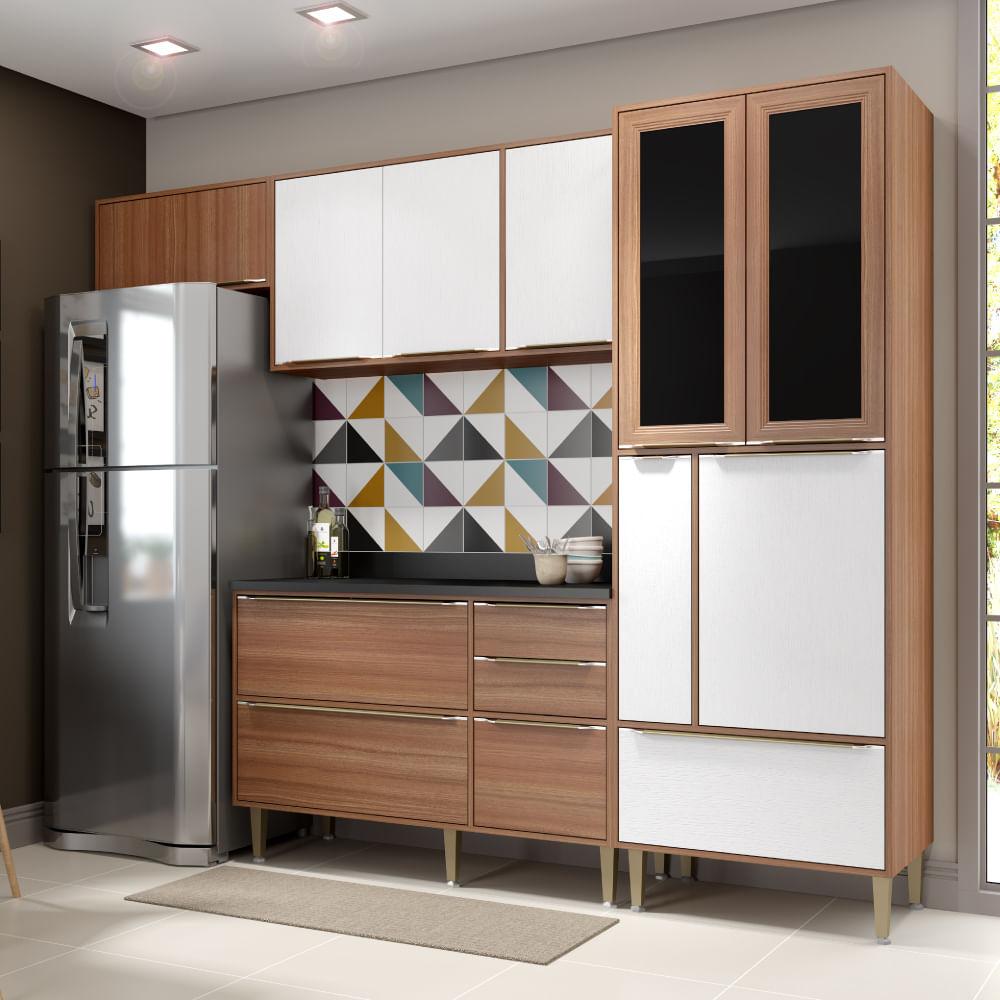 Cozinha Compacta Cal Bria A Reos Paneleiro E Balc O Nogueira