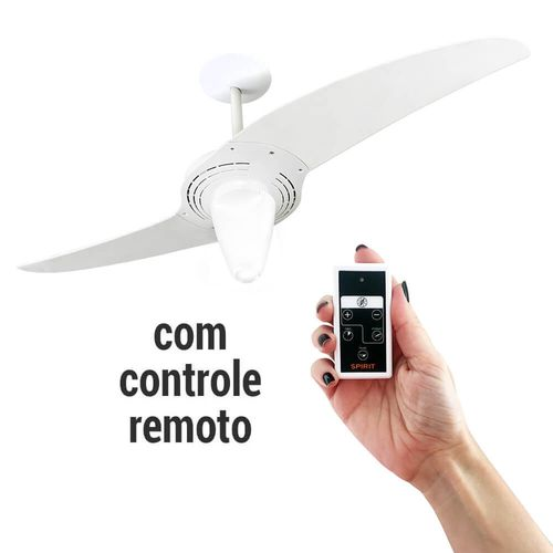 VentiladordeTetoSpirit201BrancoControleRemoto