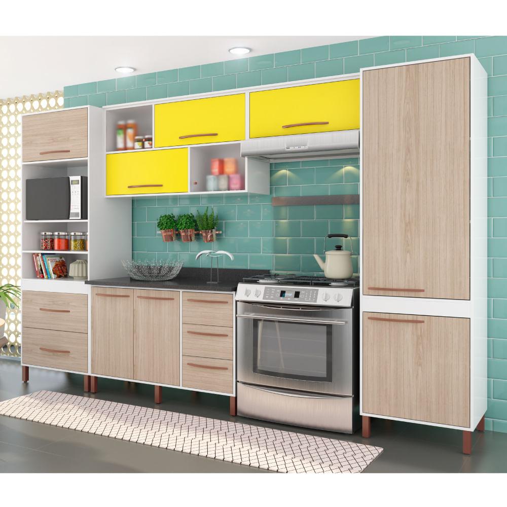 Cozinha Compacta Castanha Paneleiro Arm Rios E Balc O Albatroz