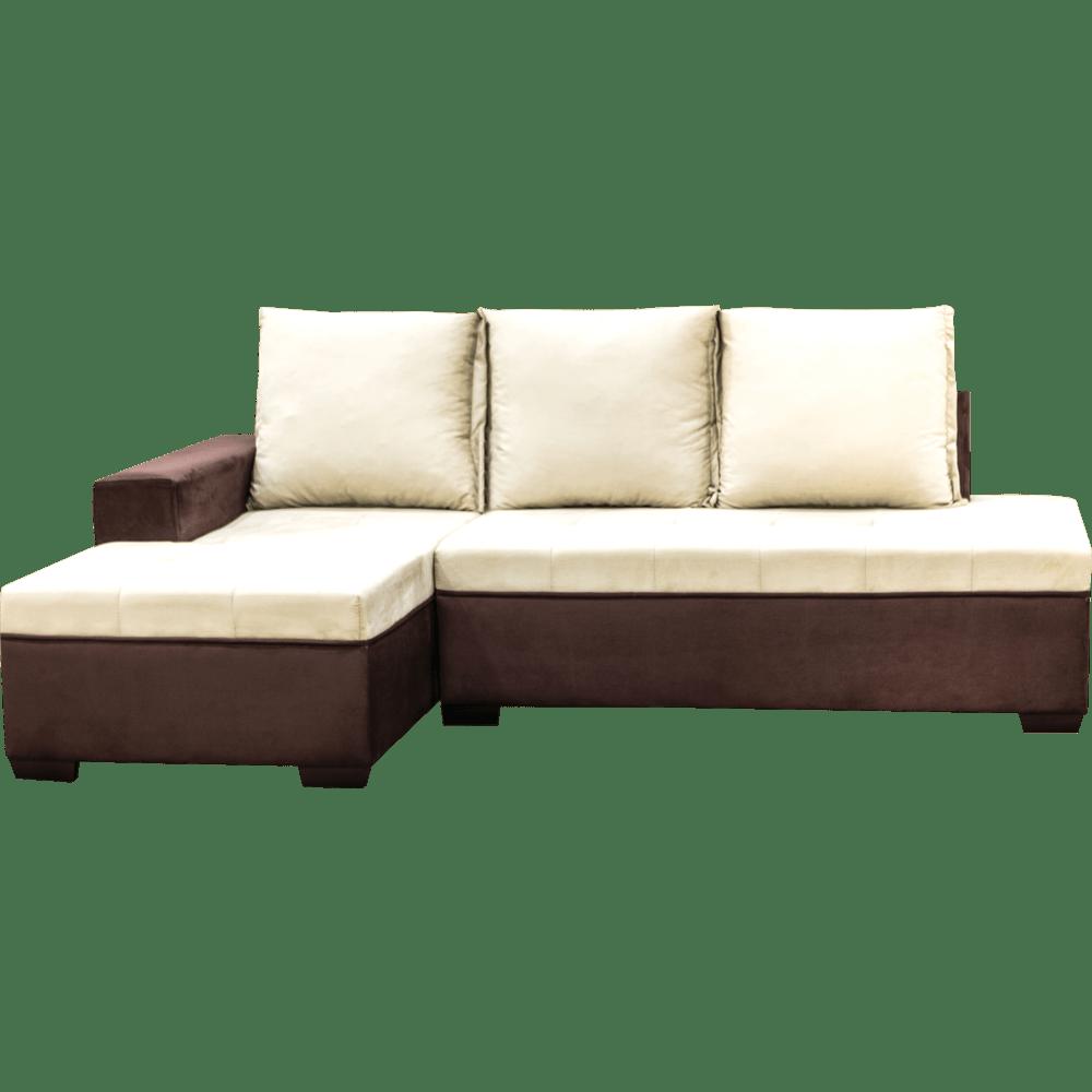 sof com chaise 2 lugares tecido sued montreal sossego novo mundo. Black Bedroom Furniture Sets. Home Design Ideas