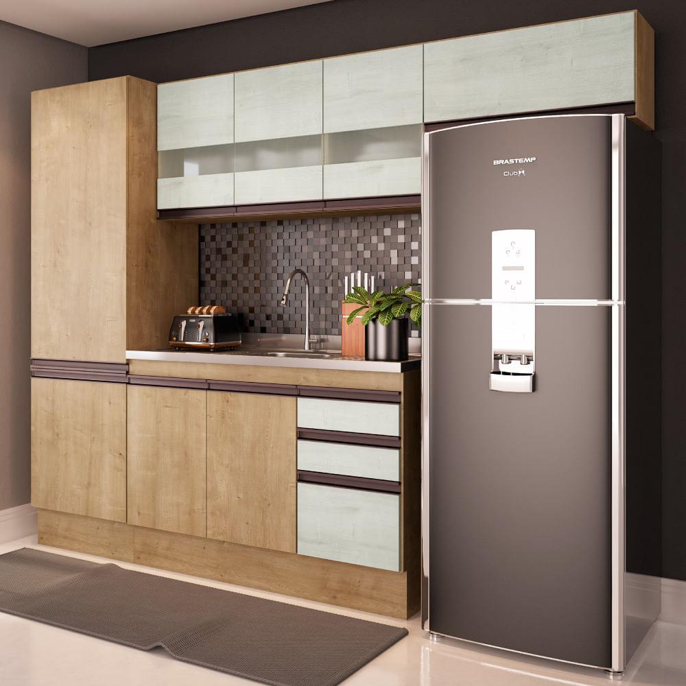 Cozinha Compacta Am Lia A Reos Paneleiro 2 Portas E Balc O