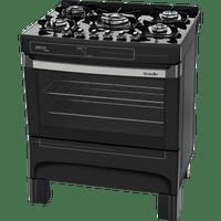 fogao-de-piso-mueller-5-bocas-ultra-chama-acendimento-automatico-preto-piacere-stile-bivolt-50147-0