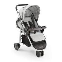 Carrinho de Bebe Agile 3 rodas Cinza Multikids Baby - BB526