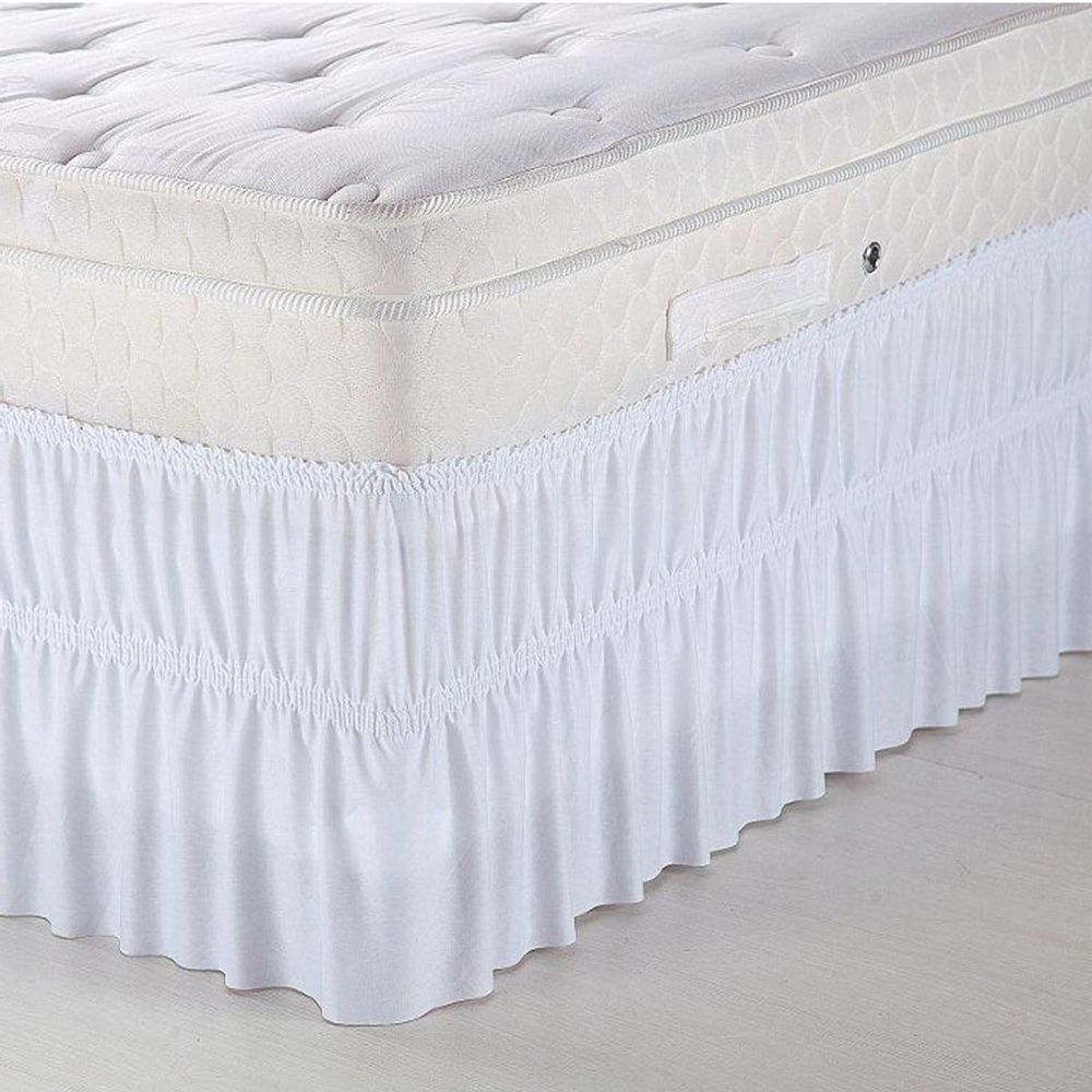 3aeff2cbf Saia para cama box king com elástico solecasa branco novo mundo jpg  1000x1000 Saia para cama