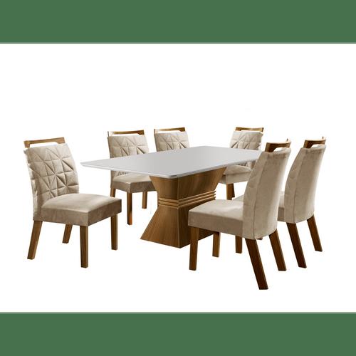 mesa-de-jantar-em-mdf-6-cadeiras-impressao-uv-lj-moveis-cronos-castanho-bege-57156-0