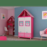 guarda-roupas-infantil-2-portas-2-prateleiras-2-gavetas-mdf-gelius-casinha-pink-ploc-branco-acetinado-57801-0