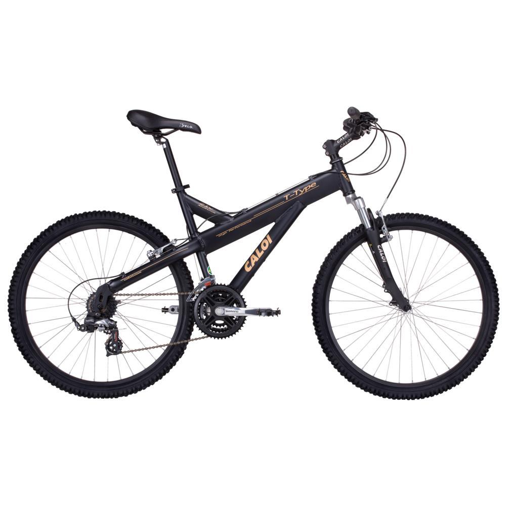 56d23e334 Bicicleta Aro 26 Caloi T-Type Preta
