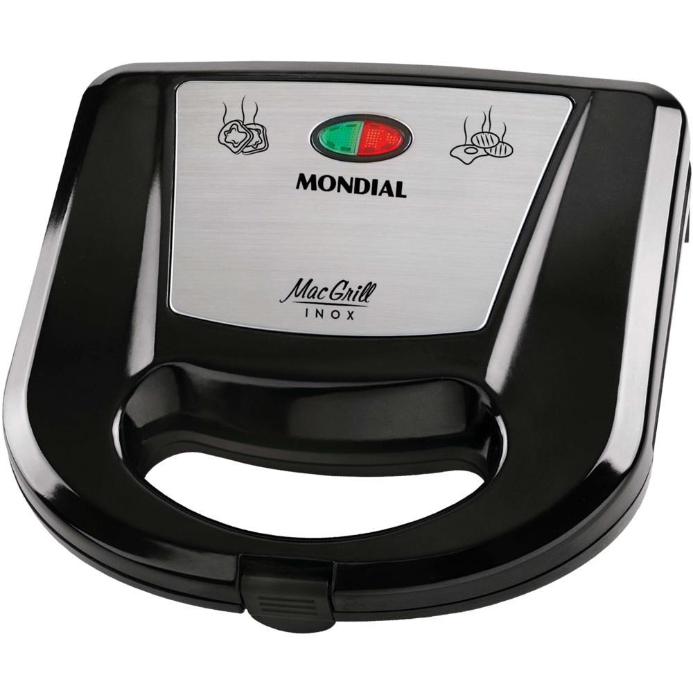 Grill E Sanduicheira Mondial Mac Grill S 11 Novo Mundo
