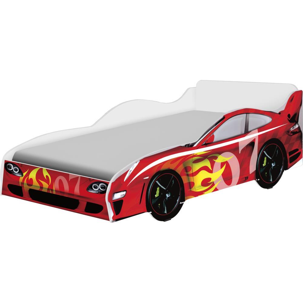 Cama infantil 188x88 vermelho carro fantasia geval - Cama coche infantil ...