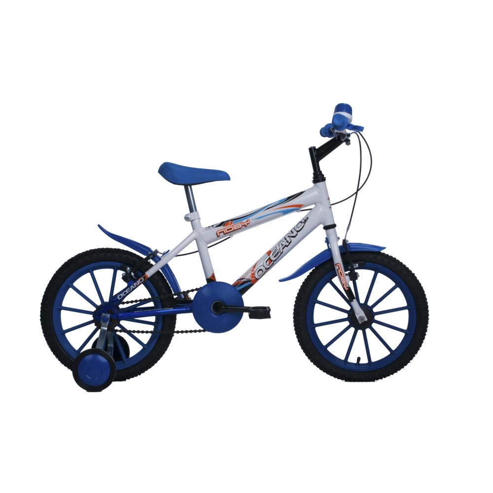 1e08b6ac2 Bicicleta Aro 16 Oceano Noby 326 Branco   Azul