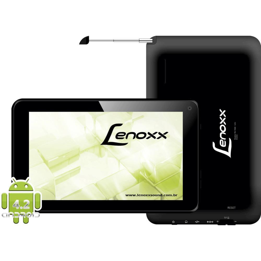 tablet lenoxx tb7000 7 4gb wi fi tv digital android 4 2 novo mundo rh novomundo com br manual do tablet lenoxx Lenoxx Blacked