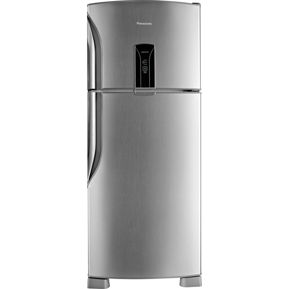 Muito Geladeira / Refrigerador Panasonic Duplex, Frost Free, 435 L, Inox  RF69