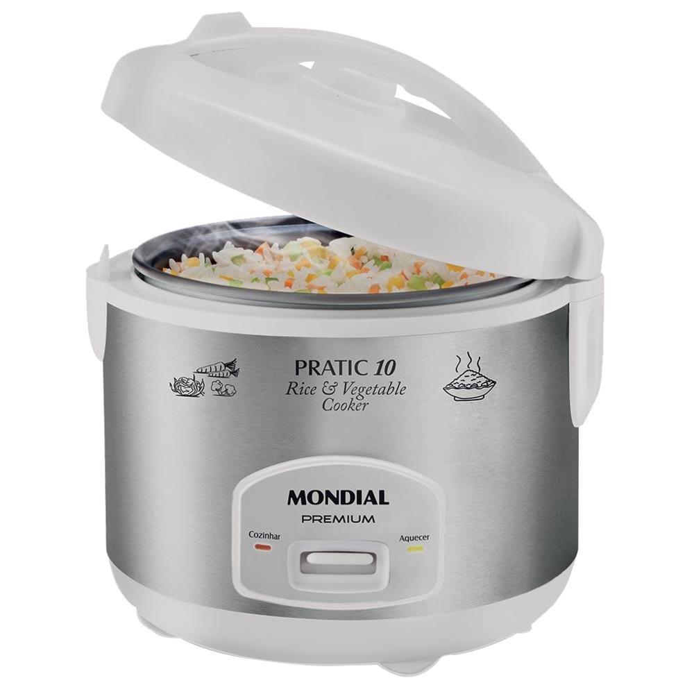 5e93d866a Panela Elétrica de Arroz Mondial Pratic Rice 10 - PE-16 - Novo Mundo
