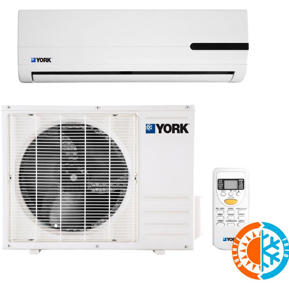 ef0999142 Ar Condicionado Split York Quente   Frio 9000 BTUS - YKS09QCA - Novo Mundo
