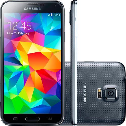 Smartphone Samsung Galaxy S5 Duos, Android 4.4, Câmera 16MP, Preto - SMG900