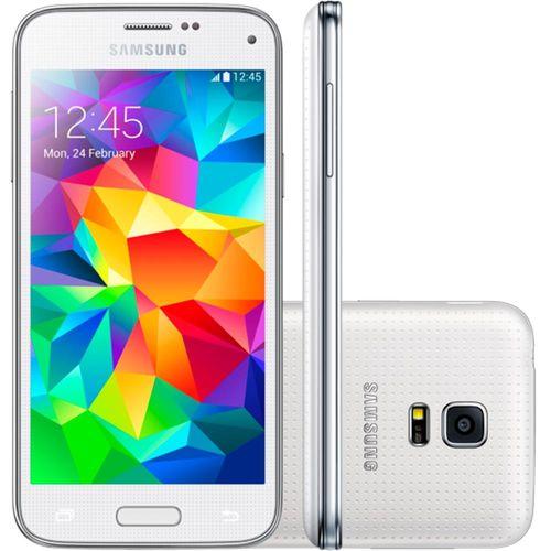 Smartphone Samsung Galaxy S5 Mini Duos Branco, Dual Chip, Memória 16GB, Câmera 8 MP, 3G e Wi - Fi - SMG800