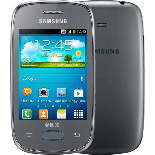 Smartphone Samsung Galaxy Pocket Neo, Dual Chip, Android 4.1, Câmera 2 MP, Prata, Tim