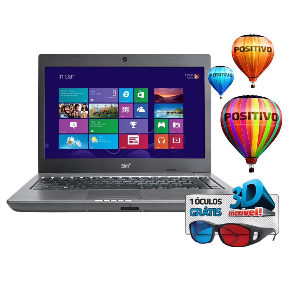 Notebook Positivo Sim 2650m Intel Celeron 847 1.1ghz Preto, 8GB, HD 320GB,  Windows 8 Single Language. Produto indisponível 1a71a54ede
