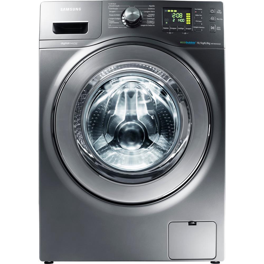 Lavadora e Secadora de Roupas Samsung Seine 10,1kg Inox Look ...