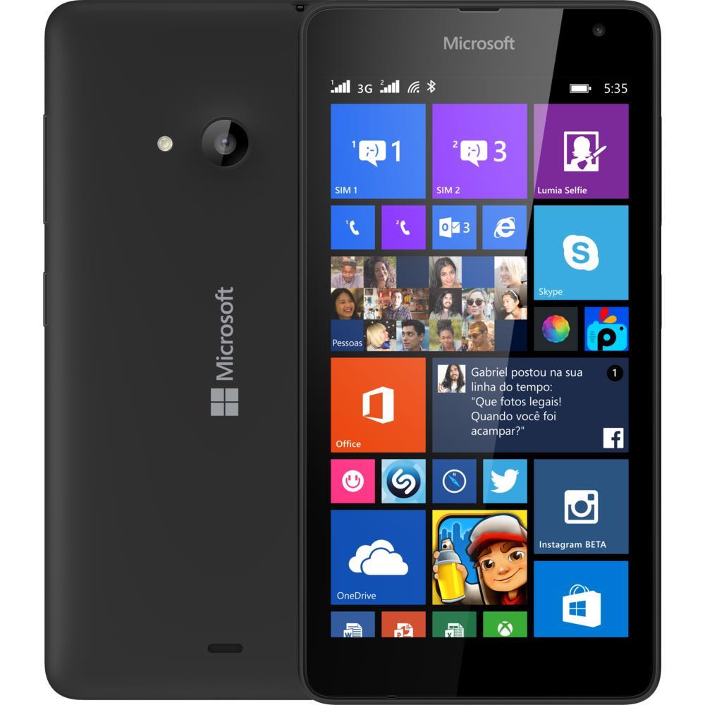 Smartphone Microsoft Lumia 535 Dual Chip 8 Gb Cmera 5mp Preto Nokia 532