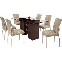 conjunto-de-mesa-6-cadeiras-com-tampo-de-vidro-somopar-hillux-prime-fabiane-wengue-bege-36620-0