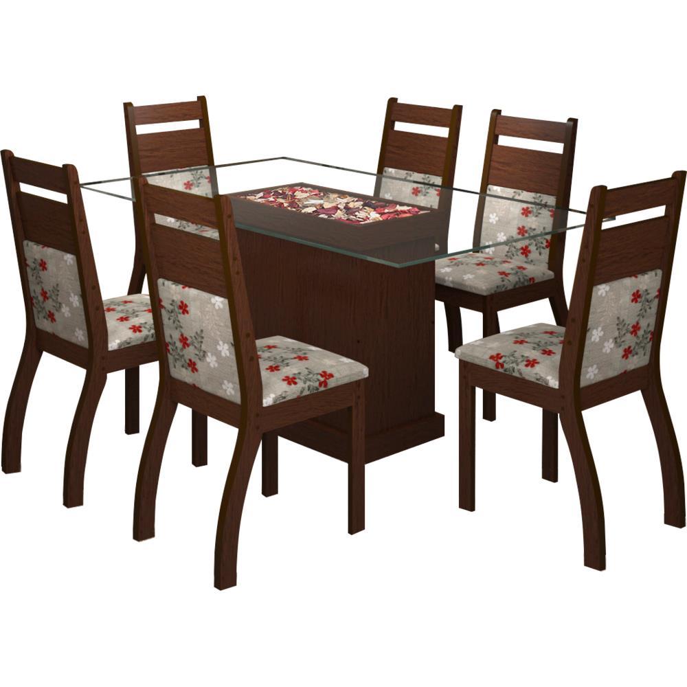 Mesa de jantar 6 cadeiras retangular viero m veis clara for Ayuntamiento de villel de mesa