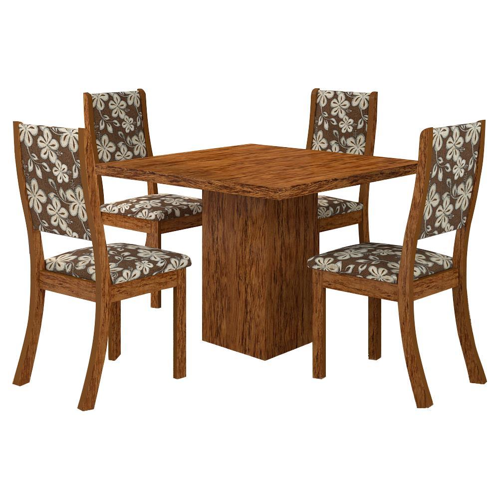 Mesa de jantar 4 cadeiras quadrada viero m veis gabi for Sala de estar png