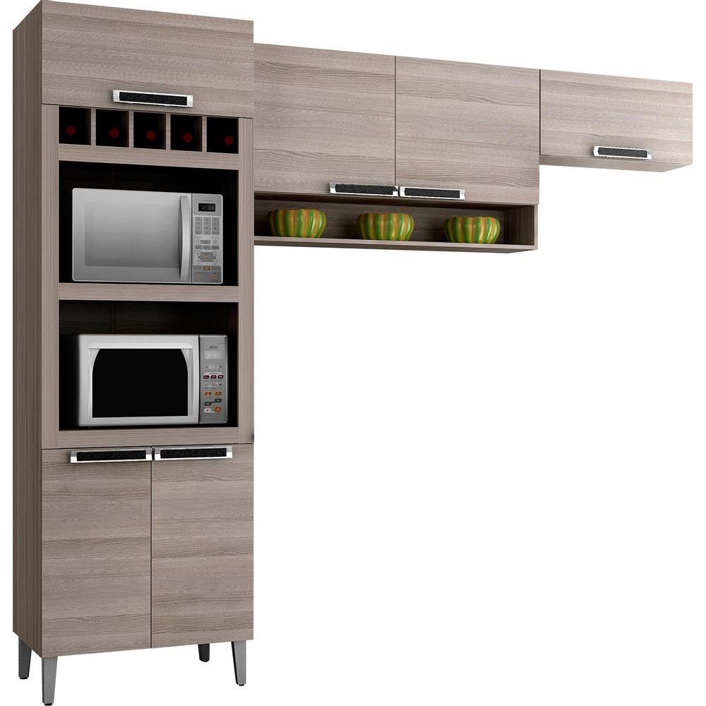 M Veis Para Cozinha Modulada E Compacta Novo Mundo