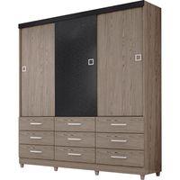 guarda-roupa-3-portas-9-gavetas-demobile-paraiso-carvalho-mosaico-grafite-36359-0