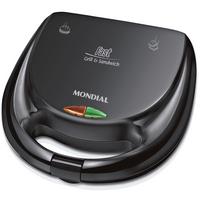 sanduicheira-e-grill-fast-mondial-750w-chapas-antiaderente-preto-s12-220v-61411-0