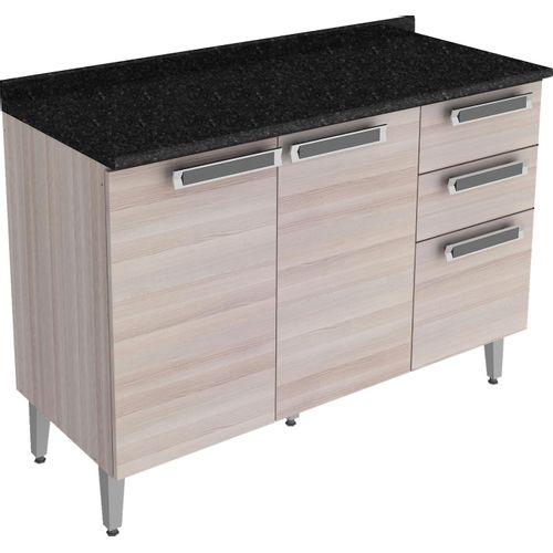Gabinete para Cozinha com 2 Portas e 3 Gavetas - Itatiaia Jazz IG3G2-120 - Bege