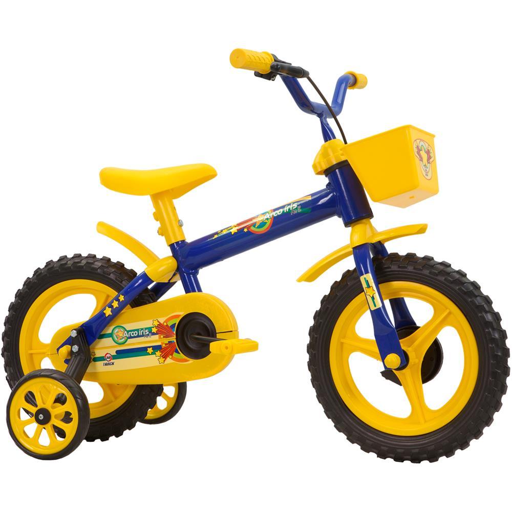 87c5c6e56 Bicicleta Infantil Aro 12 Track e Bikes Arco Íris com Cestinha