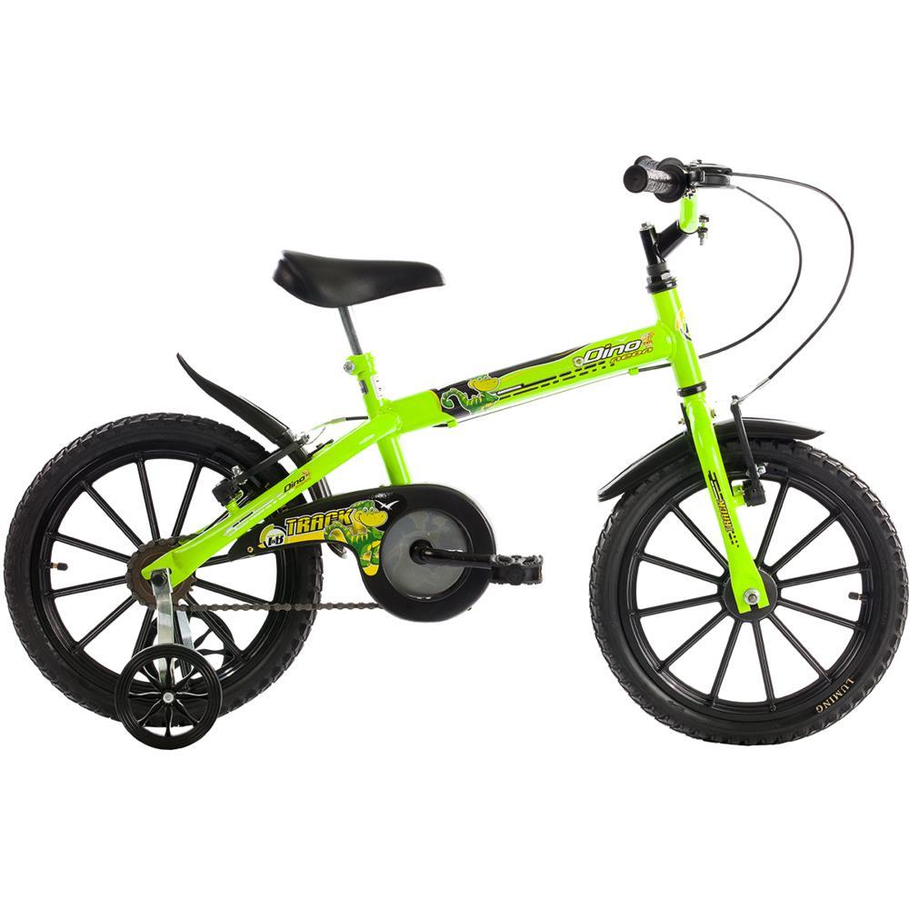 1b4696ec4 Bicicleta Infantil Aro 16 Track e Bikes Dino Neon Rodas Cross ...