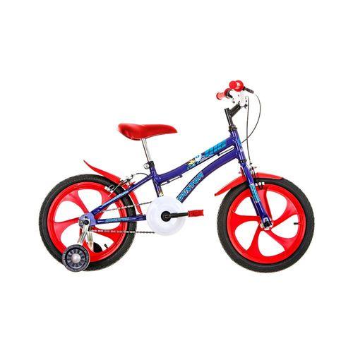 Bicicleta Houston Nic Aro 16 Rígida 1 Marcha - Azul/vermelho
