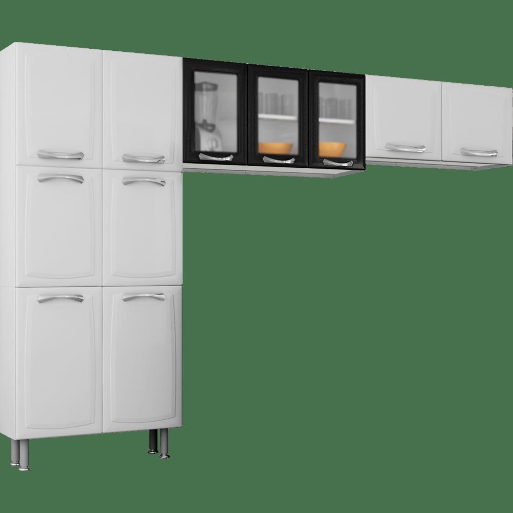 Cozinha De A O 3 Pe As 11 Portas Itatiaia Premium Branco Preto