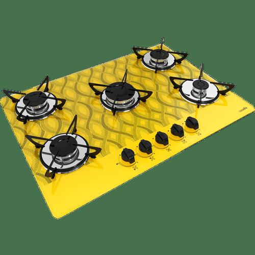 cooktop-casavitra-5-bocas-wavy-com-queimador-rapido-amarelo-e10e55-534-bivolt-38578-0