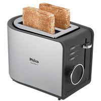 Imagem de Torradeira Philco Easy Toast Aço Escovado/Preto - PTR2